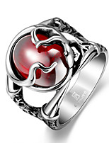 Man steel soldiers Ring steel 316 inlaid Ruby corundum  Fit Ring size 891011