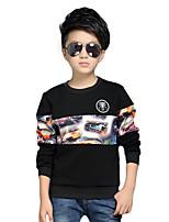 Boy's Round Collar Casual/Daily Cartoon Print / Patchwork Fleece Lining Hoodie & Sweatshirt