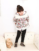 Girl's Casual/Daily Floral Suit & BlazerCotton Winter / Fall Blue / Pink
