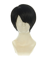Attack on Titan Levi Ackerman Natural Black Short Halloween Wigs Synthetic Wigs Costume Wigs