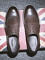 Men's Oxfords Comfort Synthetic Casual Black Brown Coffee