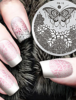 2016 г. Последние шаблон тиснения изображений пластины версия мода узор цветка бабочки искусства ногтя