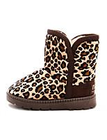 Матовый черный-Для девочек-Для праздника Повседневный-Полиуретан-На плоской подошве-Удобная обувь Теплая зимняя обувь-Ботинки