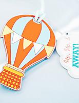 Marque-page & ouvre-enveloppe / Etiquette de bagage / Usage bureau / Parfums pour Fête du thé(Jaune)Thème de plage / Thème de jardin /