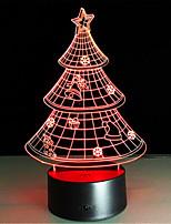 מתנת חג מולד מנורת לילה 3D מנורה יצירתי וצבעונית הובילה