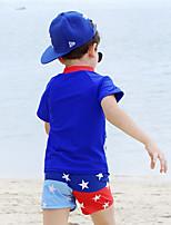 Детские Дышащий Удобный Сжатие видеоизображений Терилен Водолазный костюм Купальники-Плавание Лето Мультфильмы