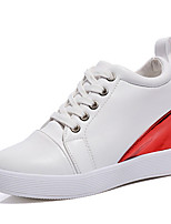 Women's Sneakers Spring Summer Fall Winter Other Leatherette Outdoor Casual Athletic Wedge Heel Lace-up Blue Red