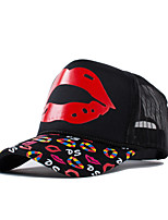 Men Women Casual Cartoon Lips Printing Patch Net Street Cap Baseball Outdoor Hip-Hop Sun Hat