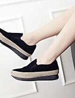 Women's Loafers & Slip-Ons Spring Summer Fall Platform Suede Casual Platform Split Joint Black Others