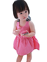Girl's Casual/Daily Solid DressPolyester Summer Blue / Pink