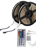 10M 5050 RGB LED Strip Flexible Light LED Tape String Lights Non-waterproof DC 12V 600LEDs with 44Key IR Remote Controller Kit
