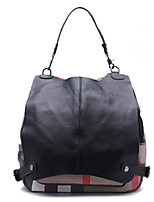 Women Cowhide Casual Backpack Black