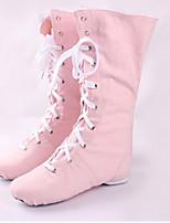 Non Customizable Women's Dance Shoes Canvas Canvas Jazz Flats Flat Heel Practice / Performance Pink