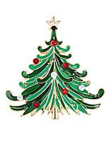 Christmas Tree Brooch Brooch Korean High-Grade Diamond Lady Accessories Collar Christmas Gift