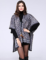 NITE OWL Women Polyester ScarfCasual RectangleBrown / GrayLeopard-16028
