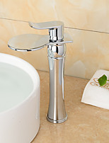 High Quality Chrome Waterfall Bathroom Sink Faucet