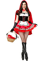 Cosplay Costumes Oktoberfest/Beer Halloween Red / White / Black Print Cotton Dress / Gloves / Cloak