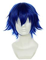 Tokyo Ghoul Kirishima Ayato Blue Short Turned Halloween Wigs Synthetic Wigs Costume Wigs