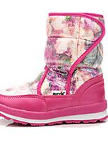 Черный / Фиолетовый / Белый / Серый / Арбузный-Для девочек-Для прогулок / На каждый день-Кожа-На плоской подошве-Удобная обувь-Ботинки