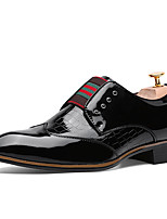 Черный / Синий / Красный-Мужской-На каждый день-Полиуретан-На плоской подошве-Удобная обувь-Туфли на шнуровке