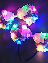 Rainbow Led Light Up Mickey EarsFlower Mickey EarsFloral Mickey EarsDisney EarsFlower EarsDisney HeadbandDisneyland