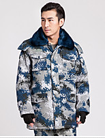 Hiking Softshell Jacket Unisex Breathable / Thermal / Warm / Windproof / Wearable Winter Cotton Camouflage