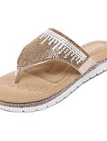 Damen-Slippers & Flip-Flops-Kleid Lässig-Kunstleder-Flacher AbsatzSilber Gold