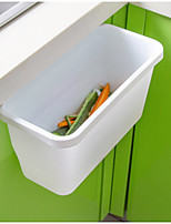 Wall-Mounted  Storage Box Hanging Litter Bin  PP Rectangle (Random Colour)