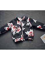 Menina de Terno & Blazer,Casual Floral Algodão Primavera / Outono Preto / Rosa