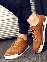 Men's Sneakers Summer Comfort Canvas Casual Flat Heel Lace-up Black Brown Running