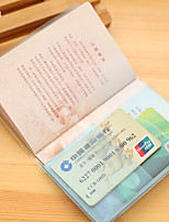 Travel Passport Holder & ID Holder Travel Storage Waterproof / Dust Proof / Portable Plastic