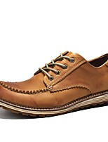 Men's Oxfords Spring / Summer / Fall / Winter Comfort Nappa Leather Outdoor / Casual Athletic Black / Brown Sneaker