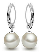 Fine S925 Silver Pearl Drop Earrings