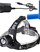 900 lumens XML-T6 3 Modes Waterproof Headlamps Mechanical Zoom Focus Light-focused Miner's Lamp 1PC