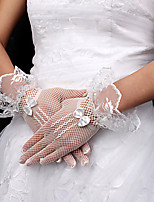 Wrist Length Fingertips Glove Net Bridal Gloves Spring Summer Fall Winter lace