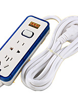 Row Plug 5 Meters With A Line Plug-In Smart Switch Socket With Waterproof Anti-Inserted Row