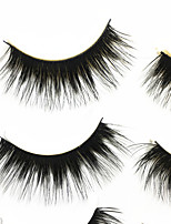 Eyelashes lash Full Strip Lashes Eyes Thick Handmade Fiber Black Band 0.07mm 14mm