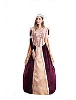 Cosplay Costumes Queen Fairytale Movie Cosplay Golden Solid Dress Headwear Halloween Carnival Female Polyester