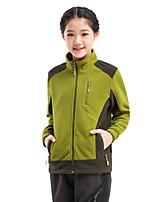 Hiking Softshell Jacket Unisex Thermal / Warm Winter Velvet Green / Red / Blue / Purple / Fuchsia