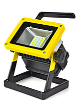 30W Rechargeable 24 LED RGB Flood Work Light Portable 18650 Caravan Camping Lamp