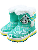 Girl's Boots Winter Comfort PU Outdoor / Casual Flat Heel Others Green / Coral Walking