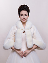 Women's Wrap Shrugs Faux Fur Wedding / Party/Evening / Office & Career Animal Print