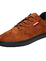 Men's Sneakers Spring / Fall Comfort Suede Casual Flat Heel Lace-up Black / Brown Sneaker