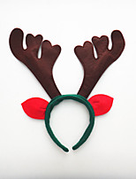 2PCS The First Christmas Holiday Party Head Hoop Buckle Three Antlers Birthday Party Supplies Props