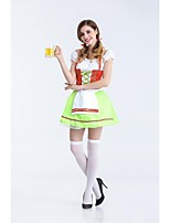 Adult Oktoberfest Costume Franch Maid Uniforms Green Beer Girl Cospaly Sexy Halloween Costumes For Women Carnival