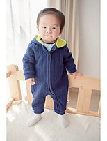 Baby Casual/Daily Solid Clothing Set-Cotton-Spring / Fall-Blue / Pink
