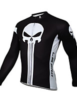 Sports Cycling Jersey Men's Long Sleeve BikeBreathable  Quick Dry Windproof  Anatomic Design Ultraviolet Resistant  Dust Proof