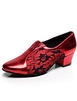 Chaussures de danse(Noir / Rouge / Gris) -Personnalisables-Talon Aiguille-Flocage-Latine / Salsa