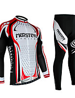 Mens Long Sleeve Cycling Jerseys fast drying wicking Cycling Clothing 3D Padded Set
