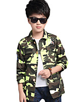 Boy's Casual/Daily Leopard Trench Coat,Polyester Spring / Fall Green